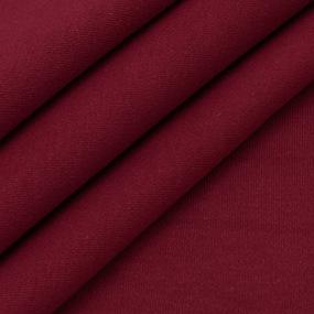 Ткань на отрез интерлок цвет бордовый фото