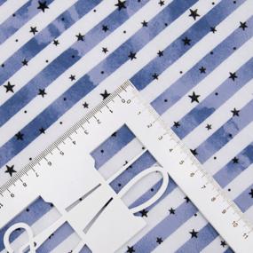 Ткань на отрез кулирка R3336-V2 Звездопад на полосе фото