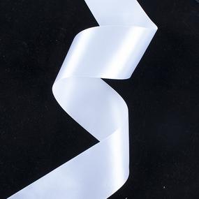 Лента атласная 50мм 25ярд №001 фото