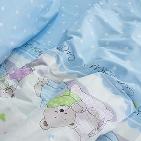Детское постельное белье из поплина 1.5 сп 1703/1 голубой фото