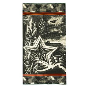 Полотенце махровое 4380 Армейская звезда 70/140 см фото