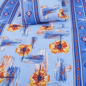 Постельное белье бязь эконом 1188 цвет голубой 1.5 сп с 1-ой нав. 70/70 фото