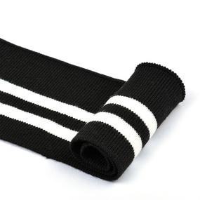 Подвяз трикотажный полиэстер арт.TBY.73004 цв.черный с белыми полосами, 6х80см фото