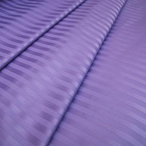 Ткань на отрез Страйп сатин полоса 1х1 см 220 см 135 гр/м2 цвет 618 сиреневый фото