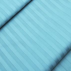 Ткань на отрез Страйп сатин полоса 1х1 см 220 см 135 гр/м2 цвет 436 бирюзовый фото