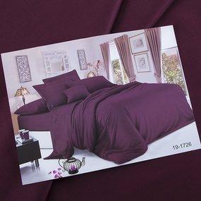 Ткань на отрез сатин гладкокрашеный 250 см 19-1726 цвет винный фото