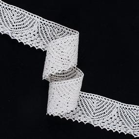 Кружево лен А23-К 5,5 см кремовый 1метр фото