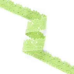 Кружево лен Z1046 Ярк зелень 1,7см 1метр фото