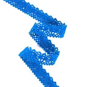 Кружево лен L130945 Синий 1,5см 1метр фото