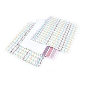 Набор полотенец полулен 3 шт 50/70 см Клетка+Полоска расцветки в ассортименте фото