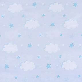 Мерный лоскут поплин 150 см 1981 Облака 6.5 м фото