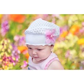 Детская летняя вязаная шапочка-косынка вид 19 фото