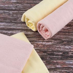 Набор детских пеленок фланель 4 шт 75/120 см Персик/Желтый фото