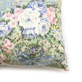 Подушка Лебяжий пух Цветы 004 цвет синий 60/60 фото