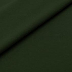 Ткань на отрез кулирка с лайкрой 4108-1 цвет темный хаки фото