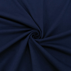Ткань на отрез кулирка с лайкрой 3175-1 цвет темный индиго фото