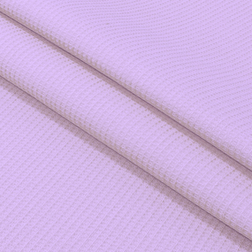 Ткань на отрез вафельное полотно гладкокрашенное 150 см 165 гр/м2 цвет фиалка фото