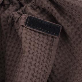 Вафельная накидка на резинке для бани и сауны Премиум мужская цвет 842 шоколад фото