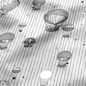 Ткань на отрез перкаль 220 см 6591/1 Воздушные шары фото