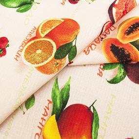 Ткань на отрез вафельное полотно 50 см 170 гр/м2 5367/1 Фрукты фото