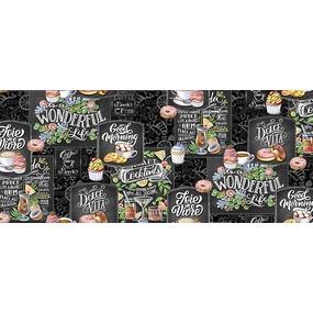 Ткань на отрез вафельное полотно набивное 150 см 30205/1 Грифель фото