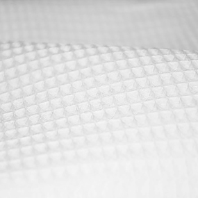 Ткань на отрез вафельное полотно отбеленное 150 см 225 гр/м2 ячейка 7х7 мм фото