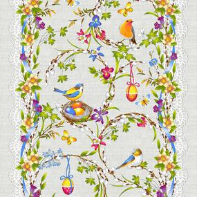 Ткань на отрез дорожка 50 см 30213/1 Вербное воскресенье фото