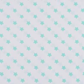Ткань на отрез поплин 150 см 390А/16 Звездочки цвет мята фото