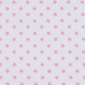 Ткань на отрез поплин 150 см 390А/2 Звездочки цвет розовый фото