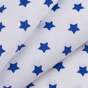 Ткань на отрез поплин 150 см 390А/21 Звездочки цвет василек фото