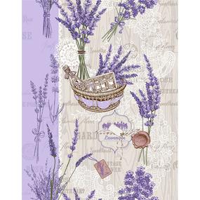 Ткань на отрез вафельное полотно 50 см 5590/1 Лето в Провансе фото