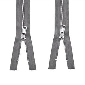 Молния металл №5ТТ никель два замка 75см D323 темно серый фото