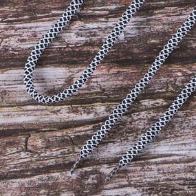 Шнурки круглые 120см черно-белые уп 2 шт фото