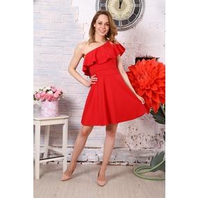 Платье Афина красное Д521 р 56 фото
