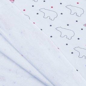 Ткань на отрез футер начес карде Медведи R098 фото