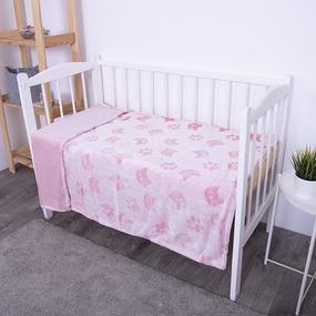 Покрывало велсофт стриженный Розовые кошки 100/150 фото