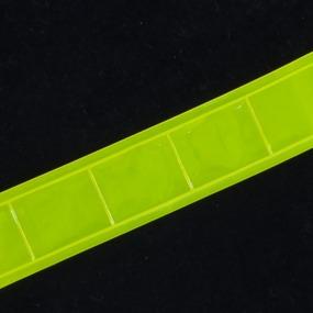 Тесьма светоотражающая 25мм желтая 1 м фото