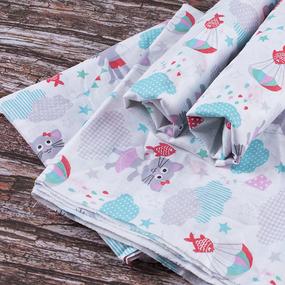 Набор детских пеленок ситец 4 шт 90/120 см 92871 фото