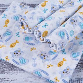 Набор детских пеленок ситец 4 шт 90/120 см 98051 фото