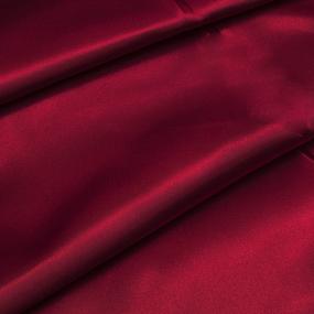 Ткань на отрез шелк искусственный 100% полиэстер 220 см цвет красный фото