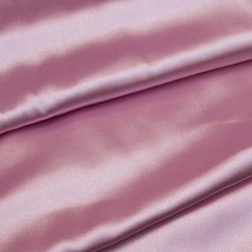 Ткань на отрез шелк искусственный 100% полиэстер 220 см цвет светло-розовый фото