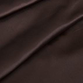 Ткань на отрез шелк искусственный 100% полиэстер 220 см цвет шоколад фото