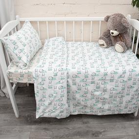 Постельное белье в детскую кроватку из поплина 1956/1 фото