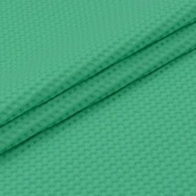 Ткань на отрез вафельное полотно гладкокрашенное 150 см 240 гр/м2 7х7 мм цвет 333 светло-зеленый фото