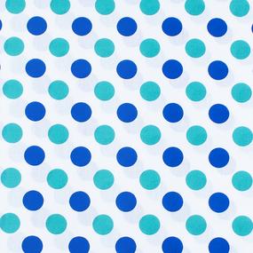 Ткань на отрез поплин 150 см 1718/1 цвет мята-василек фото