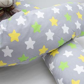 Наволочка поплин на подушку для беременных U-образная 1798/4 цвет серый фото