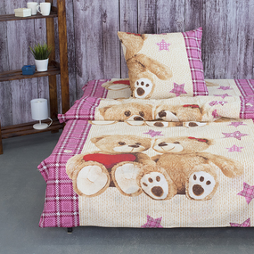 Детское постельное белье из бязи 1.5 сп 479/3 Тедди фото