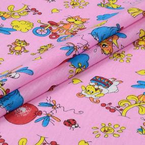 Наволочка бязь детская 383/3 Зоопарк цвет розовый 40/60 см фото