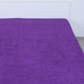 Простынь махровая цвет Темно-фиолетовый 155/200 фото