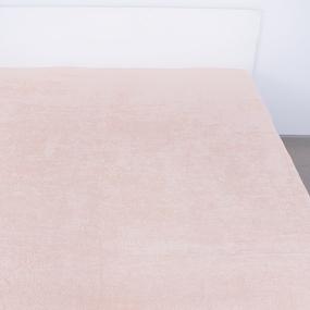 Простынь махровая цвет Персиковый 150/220 фото